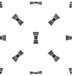 african drum pattern seamless black vector image