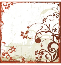 antique floral grunge background vector image