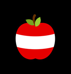 apple austria flag austrian national fruit vector image