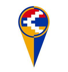 Artsakh map pointer location flag vector
