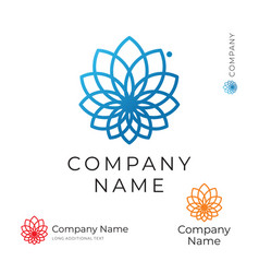 beautiful modern contour flower logo identity vector image