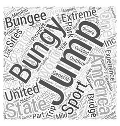Bungy Jumping In America Word Cloud Concept vector