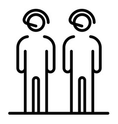 Call center people group icon outline style vector