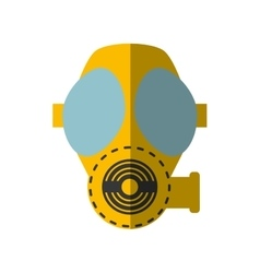 Cartoon gas mask respiration protective shadow vector