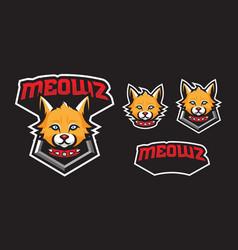 cat mascot logo design vector image
