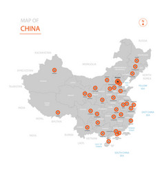 china map with administrative divisions vector image