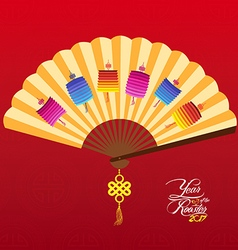 Chinese New Year Background with lantern vector