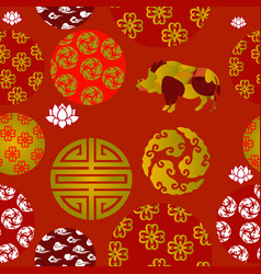 chinese new year seamless patern vector image