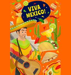 cinco de mayo holiday viva mexico party fiesta vector image