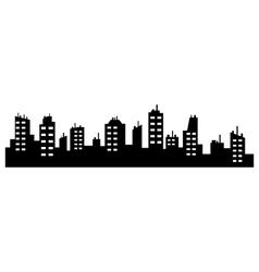 city skyline vector image