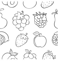 Collection stock fruit pattern style vector