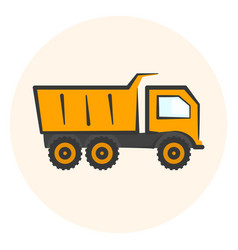 colored dumper icon dump track vector image