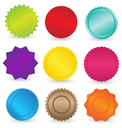 Colorful Stickers and Labels Element vector image