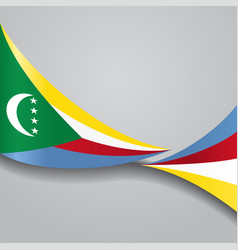 Comoros wavy flag vector