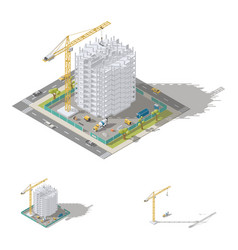 construction house monolithic frame the vector image