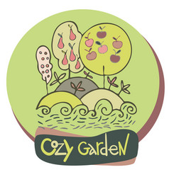 design with cozy garden vector image