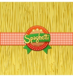 Drawn spaghetti and labels for them vector