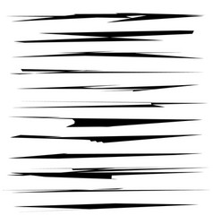 Dynamic sketchy lines grungy brushstrokes wound vector