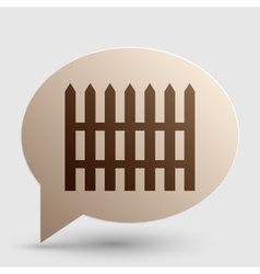 Fence simple sign Brown gradient icon on bubble vector