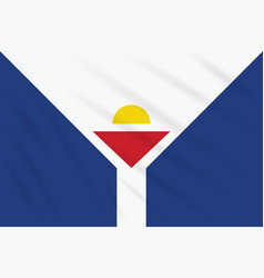 Flag saint martin swaying in wind vector