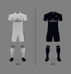 Football kit 2018-19 shirt template for soccer vector