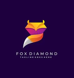 fox diamond template design vector image