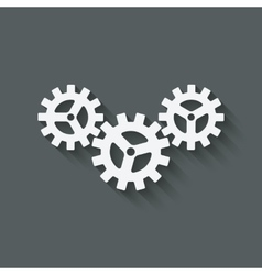gear connected symbol industrial concept vector image