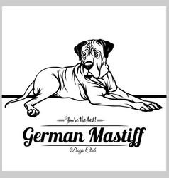 German mastiff dog - for t vector