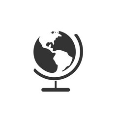 globe icon design template isolated vector image