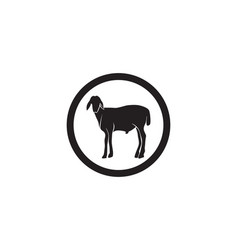 Goat black animals logo and symbols template vector