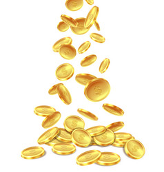 gold coins pile golden coin money heap cash vector image
