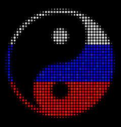 halftone russian yin yang icon vector image