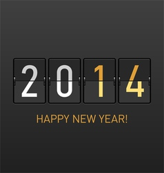 Happy New Year 2014 greetings vector image