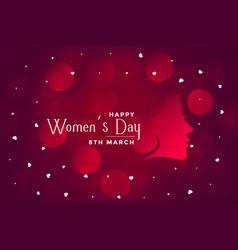 Happy womens day beautiful bokeh banner design vector