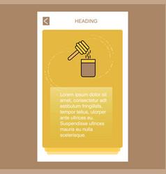 honey mobile vertical banner design design vector image