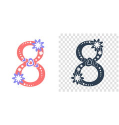 Icons 8 march numeral 8 vector