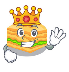 King baklava is isolated the with mascot vector