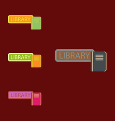 Library books collection vector