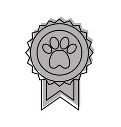 medal with paw icon vector image