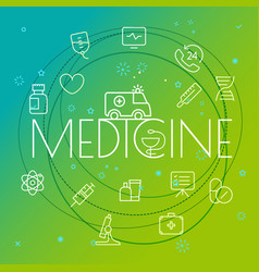 medicine concept different thin line icons vector image