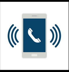 mobile phone call icon vector image