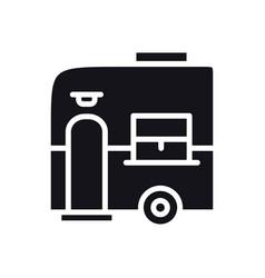 Mobile trailer icon camping caravan trailer home vector