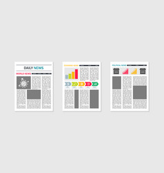 Newspaper mockup template paper news tabloid vector