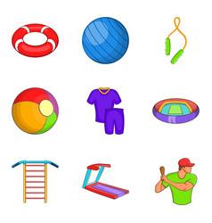 Notation icons set cartoon style vector
