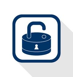 open lock flat icon vector image