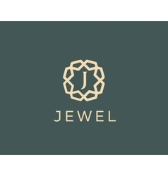 Premium letter J logo icon design Luxury vector image