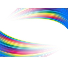 Rainbow colorful advertisement vector image