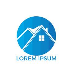 real estate house logo design vector image