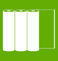 rolls of paper icon green vector image