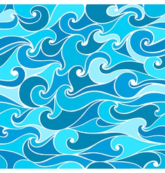 Seamless patterns with stylized wave vector image